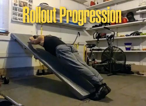 Ab wheel rollout progression