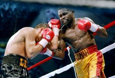 Azumah Nelson boxing