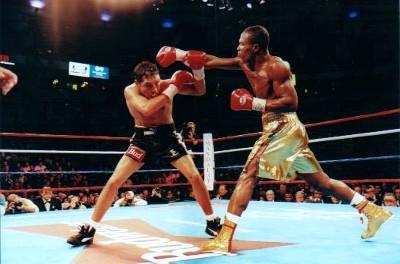 Ike Quartey boxing Oscar de la Hoya