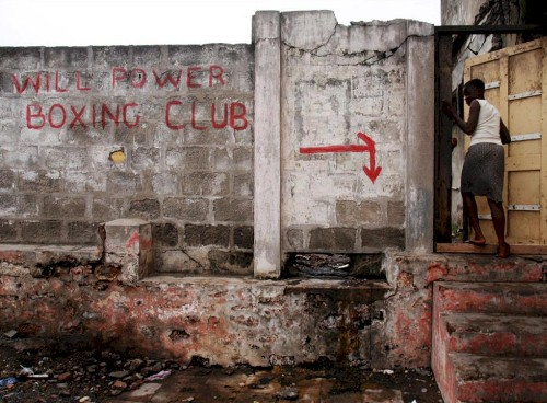 boxing gym in Ghana, Africa