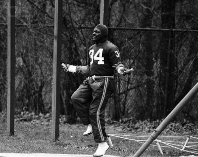 Walter Payton jumping rope