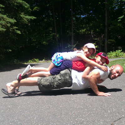 Pushups with the kids
