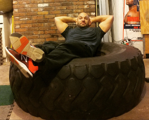 Training with a Monster Tire – Gym Buddies