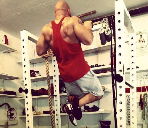 Thick grip pull-ups